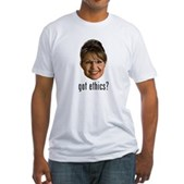 Anti-Palin Got Ethics? Fitted T-Shirt