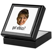 Anti-Palin Got Ethics? Keepsake Box