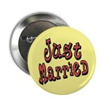 """Funky Just Married 2.25"""" Button"""