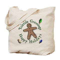 yuletide greetings tote bag