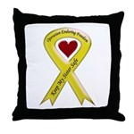 Sister Safe OEF yellow ribbon Throw Pillow