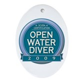 Open Water Diver 2009 Oval Ornament