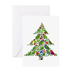 Birdorable Parrot Christmas Tree Greeting Card