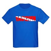 Tauchen German Scuba Flag Kids Dark T-Shirt