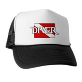 Pirate-style Diver Flag Trucker Hat