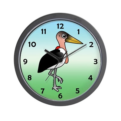 Birdorable Marabou Stork Wall Clock
