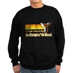 Black Belt in Keepin It Real Sweatshirt (dark)