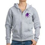 Purple Spider Women's Zip Hoodie