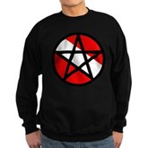 Scuba Flag Pentagram Sweatshirt (dark)