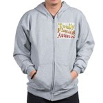 Totally Flaming Autistic Zip Hoodie