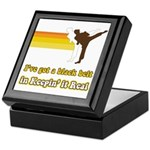 Black Belt in Keepin It Real Keepsake Box