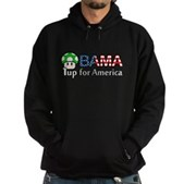 Obama 1up for America Hoodie (dark)
