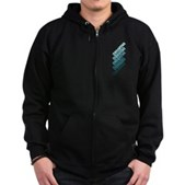 Stacked Obama Blue Zip Hoodie (dark)