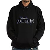 I Believe in Obamagic Hoodie (dark)