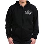 Fire Dept Tattoos Zip Hoodie (dark)