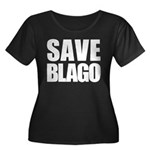 Save Illinois Governor Blagojevich, he's innocent! Women's Plus Size Scoop Neck Dark T-Shirt