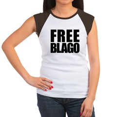 Free Illinois Governor Blagojevich, he's innocent! Women's Cap Sleeve T-Shirt