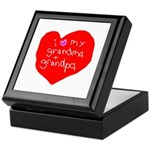 Valentine Grandma and Grandpa Keepsake Box