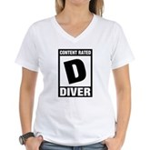 Rated D: Diver Women's V-Neck T-Shirt