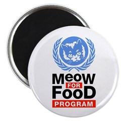 Meow For Food Program Magnet