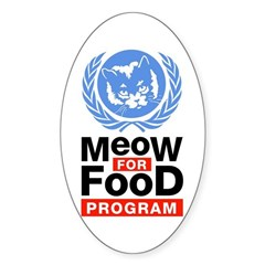 Meow For Food Program Sticker (Oval)