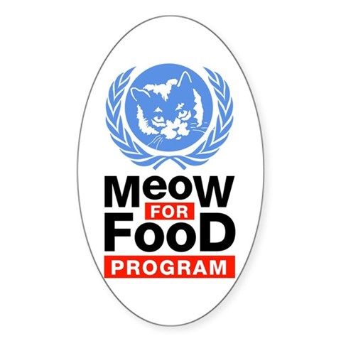 Meow For Food Program Oval Sticker