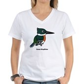 Green Kingfisher Women's V-Neck T-Shirt