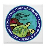 Take Only Memories (turtle) Tile Coaster