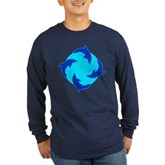 Dolphin Ring Long Sleeve Dark T-Shirt