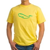 Stylized Sperm Whale Yellow T-Shirt