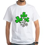 Irish Shamrocks White T-Shirt