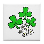 Irish Shamrocks Tile Coaster