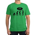 Evolution is following me Men's Fitted T-Shirt (dark)