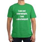 I am not overweight... Men's Fitted T-Shirt (dark)