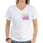 Two Sides Printed Women's V-Neck T-Shirt