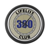 Lifelist Club - 300 Large Wall Clock