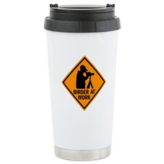 Birder at Work Ceramic Travel Mug