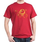 Retro Orange Circles Dark T-Shirt