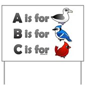 B is for Birdorable Yard Sign