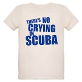 No Crying in Scuba Organic Kids T-Shirt