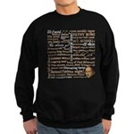 Shakespeare Insults T-shirts & Gifts Sweatshirt (dark)