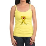 Support our Troops Yellow Ribbon Jr. Spaghetti Tan