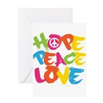 Hope Peace Love Greeting Card
