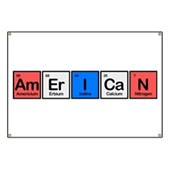 This design shows the word American spelled out using Americium, Erbium, Iodine, Calcium & Nitrogen. This is perfect for patriotic Americans - especially if they're also interested in chemistry!
