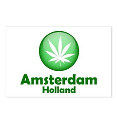 Amsterdam Souvenir T-Shirts Postcards (Package of 8)