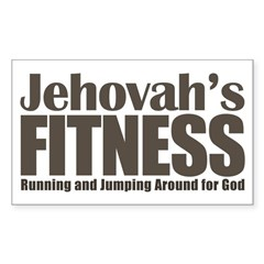 Jehovah's Fitness Sticker (Rectangle)