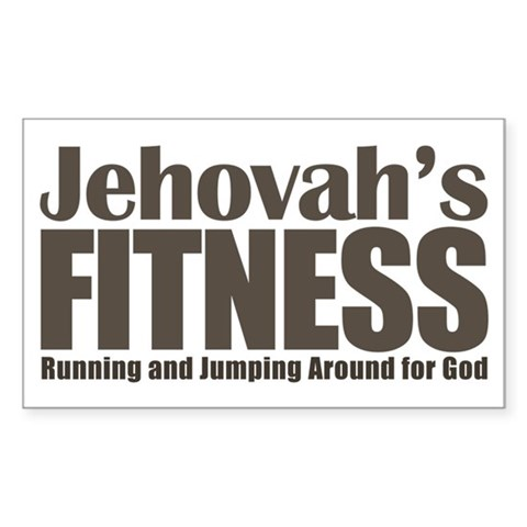 Jehovah's Fitness Rectangle Sticker
