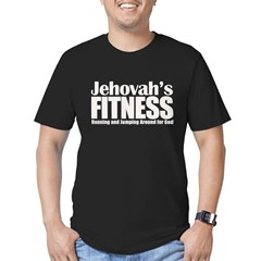 Jehovah's Fitness Men's Fitted T-Shirt (dark)