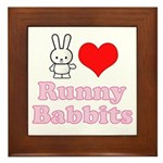 I Love Runny Babbits Framed Tile