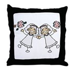 Lesbian Brides Throw Pillow